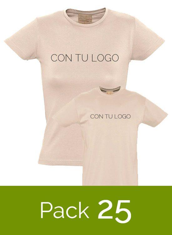 49c7cd18ac984 Lote de 25 Camisetas orgánicas con tu logo a 1 color – Camisetas ...