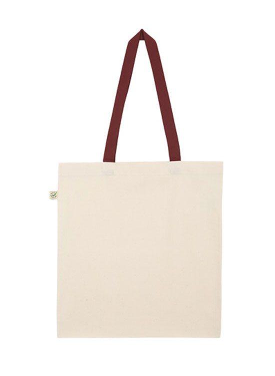 Algodón Tote Bag De Orgánico Contraste ikOPZXu